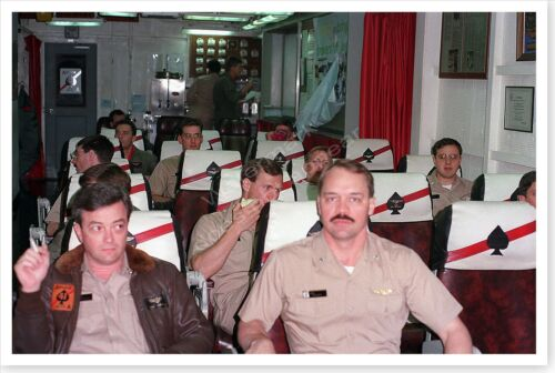 USS Theodore Roosevelt Fighter Squadron 41 Briefing Desert Storm 8 x 12 PhotoReproductions - 156449
