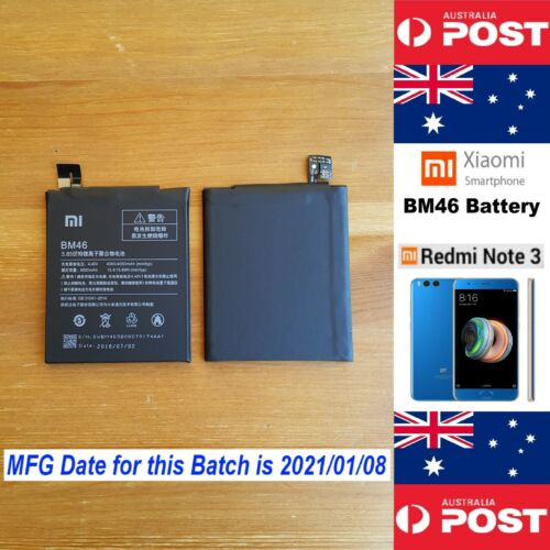 GENUINE Xiaomi Redmi Note 3 Battery BM46 4050mAh Good Quality - Local Seller