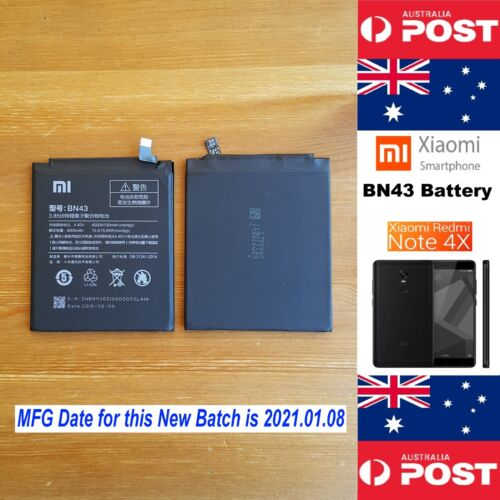 GENUINE Xiaomi Redmi Note 4X Battery BN43 4100mAh Good Quality - Local Seller