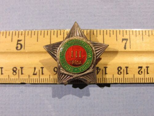 eec9cf2cad63 $24.99 Czechoslovakia Sharpshooter Marksman Military Army Pin Badge Czech  Ushanka HatOther Militaria (Date Unknown) -