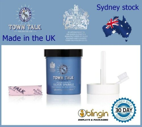 TOWN TALK - EXQUISITE SILVER SPARKLE DIP 225ML. FOR SILVER, JEWELLERY CLEANER!