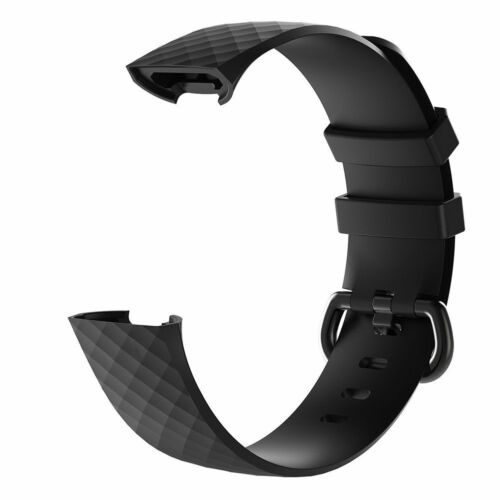 Luxury Silicone Band Strap Buckle For Fitbit Charge 3 4 Replacement