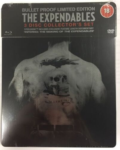 The Expendables  Blu ray Steelbook - 3 disc set ( NEW ) REG B
