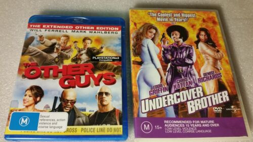 2x COMEDY : THE OTHER GUYS BLU RAY & UNDERCOVER BROTHER DVD
