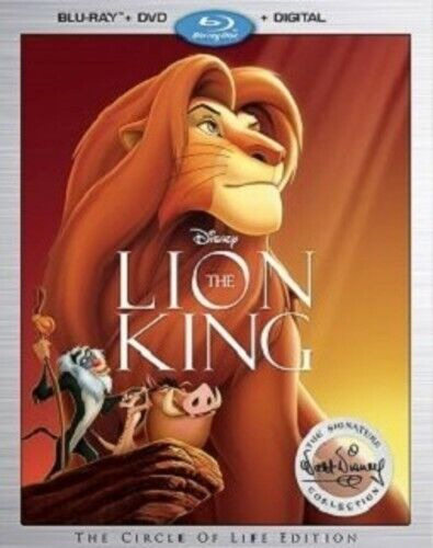 The Lion King (1994 Disney) (2 Disc, With DVD, Signature Collection) BLU-RAY NEW