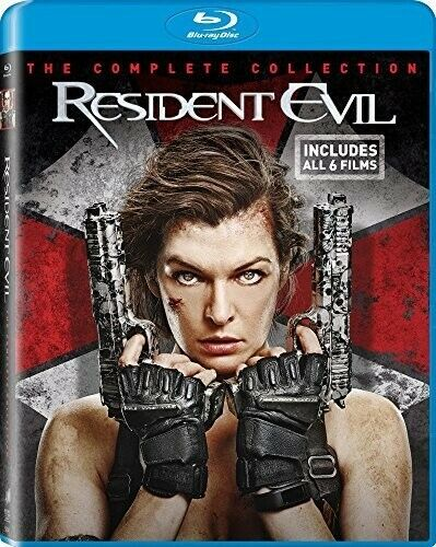 Resident Evil: The Complete 6 Film Collection (6 Disc) BLU-RAY NEW