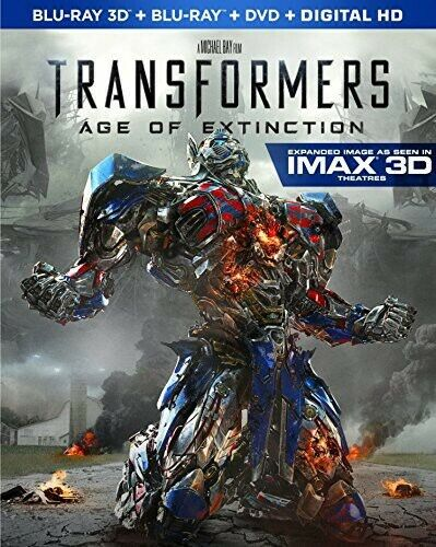 Transformers: Age of Extinction (4 Disc, With Blu-ray + DVD) 3D BLU-RAY NEW