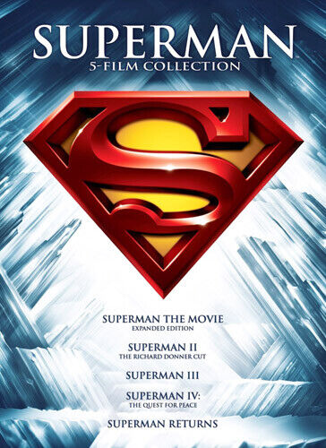 Superman 5 Film Collection: 1 / 2 / 3 / 4 / 5 (5 Disc) DVD NEW