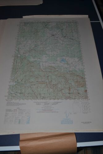 1940's Army (like USGS)Topo map Yelm Washington Sheet 1477 I  Fort Lewis