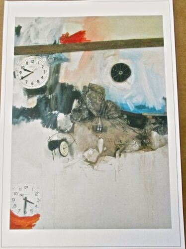 Robert Rauschenberg Poster  Reservoir 1961 Early Pop Artist Unsigned 17X12