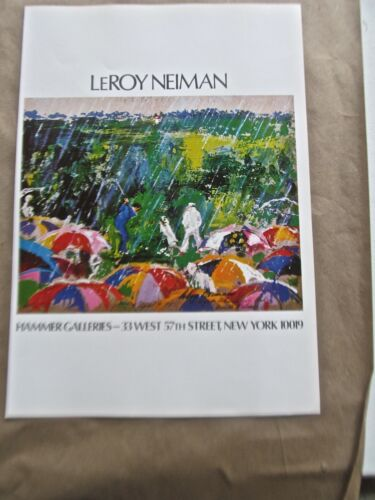 LeRoy Neiman Poster Golf Art I-Image for Show at Hammer Graphics 16x11 Unsigned