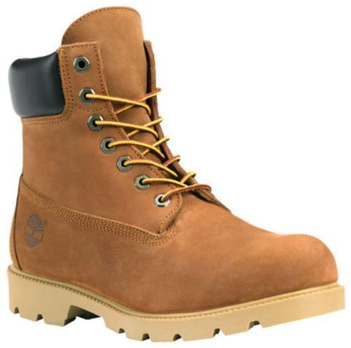 19076 Timberland 6-Inch Basic W/Padded Collar Waterproof Men's Boots