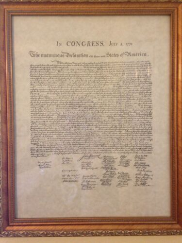 Reproduction Declaration of the thirteen United States of America July 4th, 1776Original Period Items - 13957