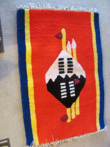 Vintage Hand Woven Swaziland  Rug/Wall Hanging