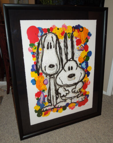 """Tom Everhart """"Wait Watchers"""" Signed Limited Edition Lithograph Framed"""