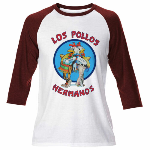 Mens Los Pollos Hermanos Breaking Bad Chicken Long Sleeve T Shirt Walter White