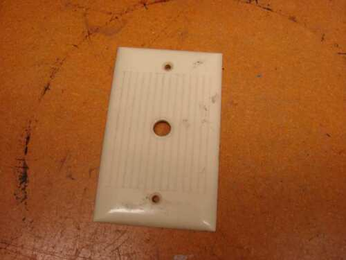 Vintage Bakelite Ivory Sierra round cable Plate Cover Art Deco ribbed