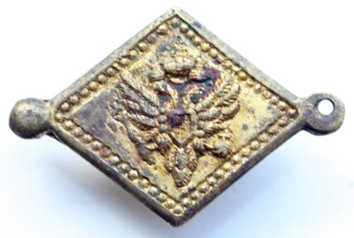 Russia Empire Officer Gilding Raincoat Hairpin Buckle With Imperial Eagle