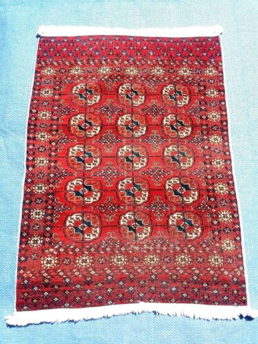 Antique Hand Knotted Authentic Tekke Rug