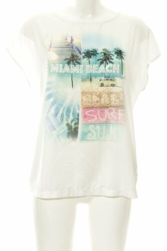 DARLING HARBOUR T-shirt bianco-turchese Stampa a tema stile spiaggia Donna