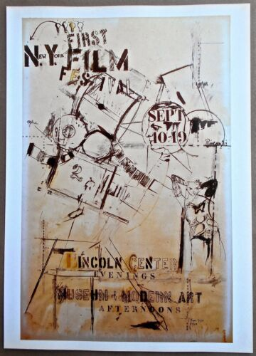 Larry Rivers To Announce the First New York Film Festival Mini-Reprint 16X11 LC