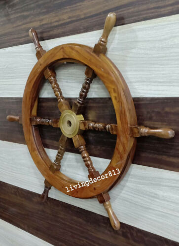 Nautical Wooden Ship Wheel Classic Design Boat's Wheel 30 Inches