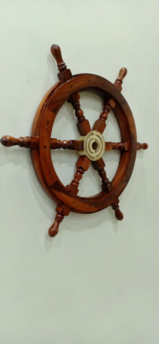 "Boat Ships Captains Nautical Ship Wheel 18"" Wooden Steering"