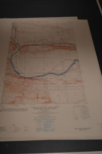1950 Army Topographic maps Hanford Reservation Washington 12 Sheets
