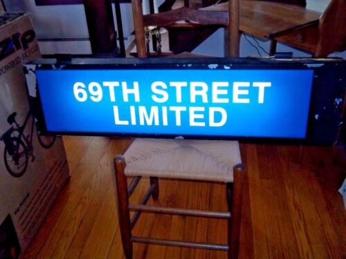 RESTORED PHILADELPHIA PHILLY PA SUBWAY ROLL SIGN SCROLLS LIGHTS PLUGS IN WALL