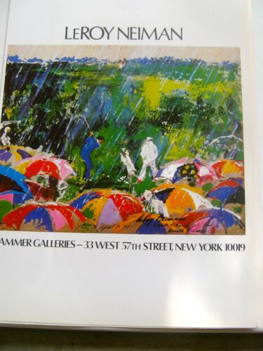 LeRoy Neiman Poster for Hammer Galleries Exhibition-Golf Art 16x11