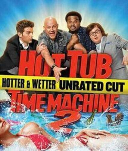 Hot Tub Time Machine 2 (Hotter and Wetter Edition, Unrated Cut) BLU-RAY NEW