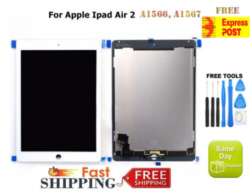 For iPad Air 2 A1566 A1567 LCD DISPLAY+TOUCH SCREEN DIGITIZER REPLACEMENT WHITE