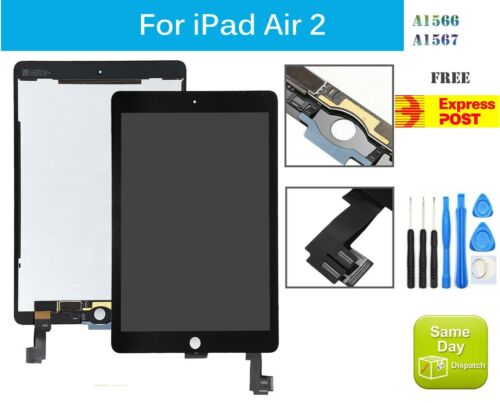 For iPad Air 2 A1566 A1567 LCD DISPLAY+TOUCH SCREEN DIGITIZER REPLACEMENT BLACK