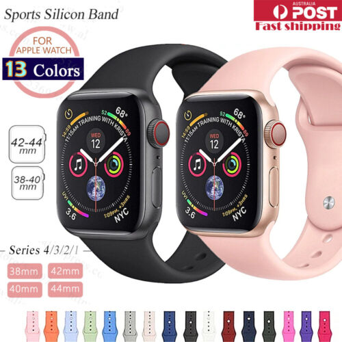 Sports Silicone Bracelet wrist band F Apple Watch Series 6 5 4 3 2-38 40 42 44mm <br/> ⭐ON SALE ⭐ON SALE⭐LOWEST $$⭐SYDNEY STOCK⭐FAST SHIPPING⭐