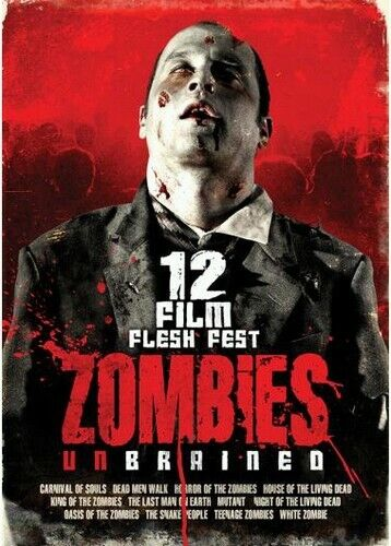 Zombies UnBrained: 12 Film Flesh Fest (3 Disc) DVD NEW