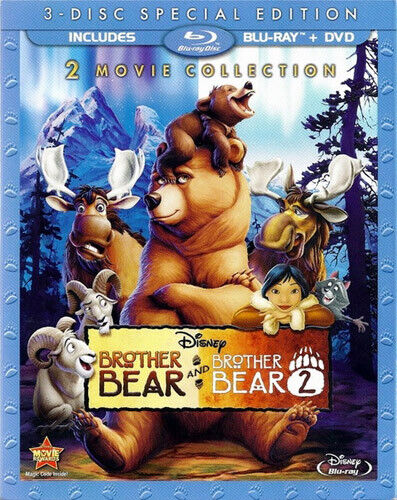 Brother Bear 1 / Brother Bear 2 (3 Disc, Blu-ray + DVD, Special) BLU-RAY NEW