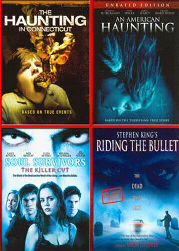 Haunting in Connecticut/ American Haunting/ Soul Survivors/Riding Bullet DVD NEW