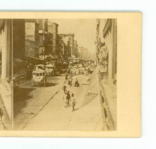 B3189 Anthony 18 Bustling Broadway in 1860, New York City D