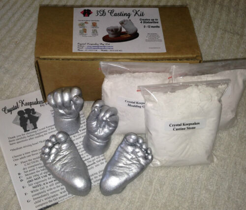 BABY HAND & FOOT CASTING KIT- 100% Safe. TGA REGISTERED. <br/> Creates up to 4 Castings. Suitable for infants 0-12mths