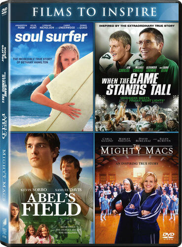 Soul Surfer / When the Game Stands Tall / Abel's Field / The Might Macs DVD NEW