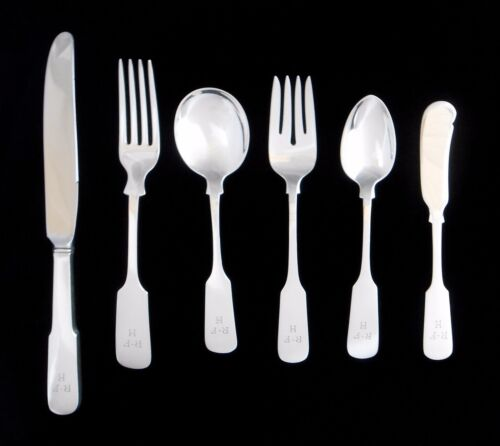 Sterling Silver GORHAM Old English Tipt 12 Complete Settings 72 Pieces Flatware