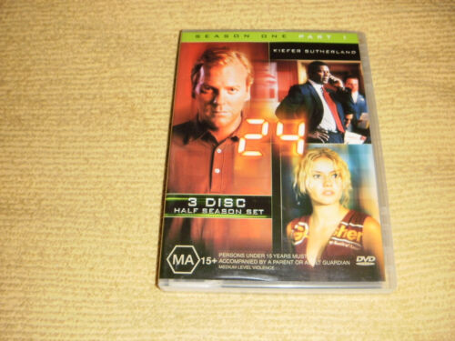24 Season 1 Part 1 = 3 DVD action TV Show Series one part one R4