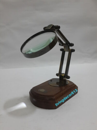 antique table magnifier Victorian-Magnifying-Glass Nautical Decor.Magnify Glass
