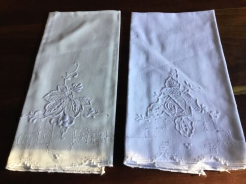 VINTAGE EMBROIDERED HAND TOWELS 2