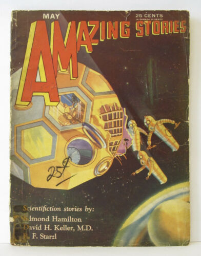 Vintage AMAZING STORIES Magazine Pulp Science Fiction - May 1930 - Vol 5 #2