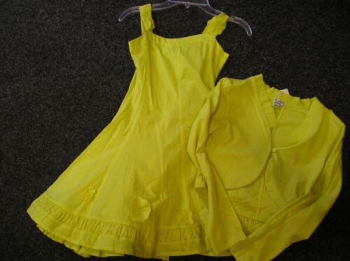 SALE NEW ELIANE ET LENA LIME DRESS & CARDIGAN SET SIZE 4 YEARS 5 YEARS 6 YEARS
