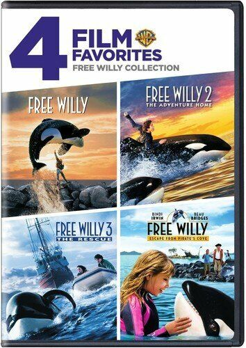 Free Willy 1, 2, 3 & 4 DVD Box Set Complete 4 Movies Collection Adventure Home