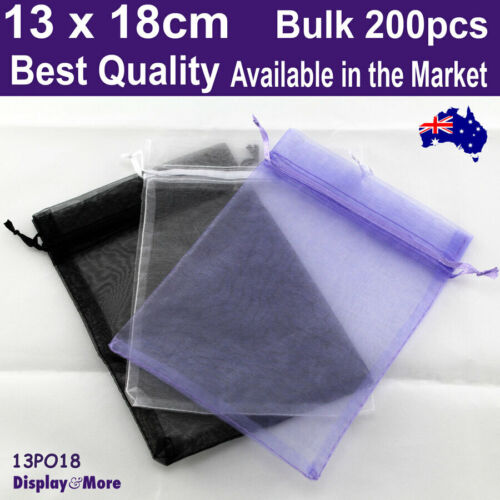 Organza Bag Jewellery Pouch | BULK 200pcs 13x18cm | BEST QUALITY | AUS Stock