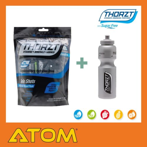 Thorzt Sugar Free Solo Shot Mix 50 Pack Hydration Drink & 800mL Drink Bottle