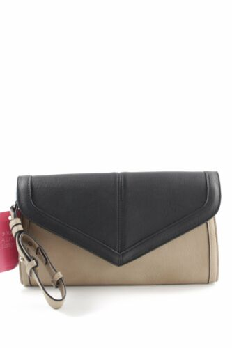 WAREHOUSE Borsa clutch nero-beige stile casual Donna